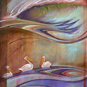 """""""Three Pelicans"""" by Spencer Reynolds"""